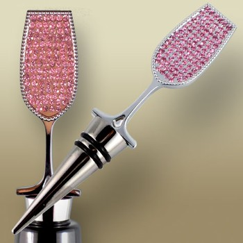 Pink Champagne Jewelled Bottle Topper