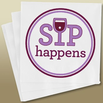 Napkins Sip happens