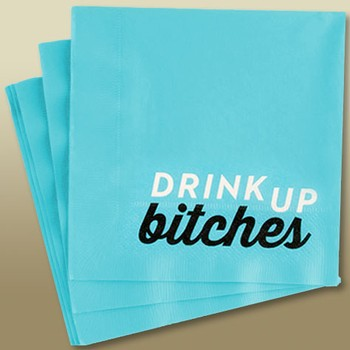Napkins Drink Up Bitches Blue