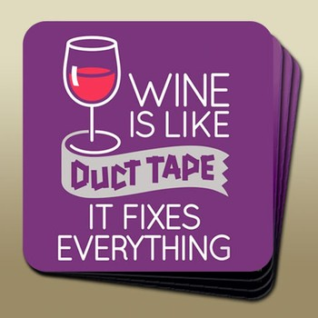 Wine Humour Coaster Duct Tape