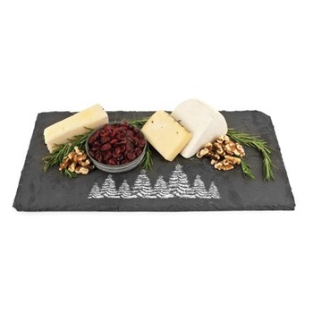 Rustic Holiday Evergreen Slate Board Image