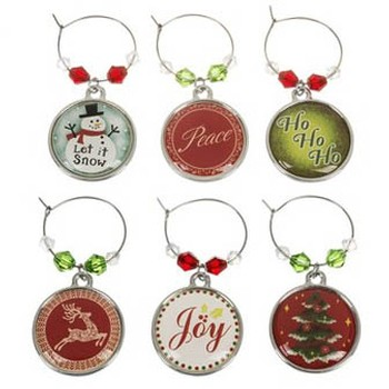 Xmas Wine Charms Image