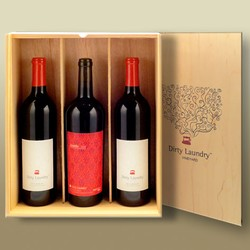 Wooden Slider Box - Three Bottle