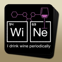 Wine Humor Coaster - I Drink Periodically Image