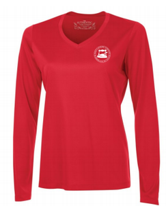 Shirt - Ladies Long Sleeve Red