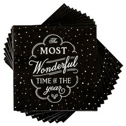 Most Wonderful Time Holiday Napkins Image